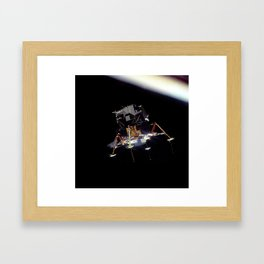 Eagle In Lunar Orbit  Framed Art Print