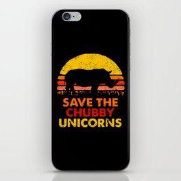 Save The Chubby Unicorns iPhone Skin