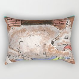 Big Fat Wolf Rectangular Pillow