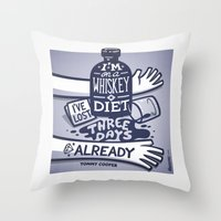 whiskey Throw Pillows featuring Whiskey by hugraphic