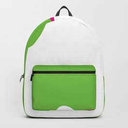 image of a woman's face green white Backpack