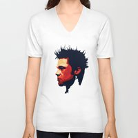 brad pitt V-neck T-shirts featuring Brad Pitt Digital illustration by Parveen Verma