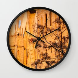 Sagrada Familia at sunset Wall Clock
