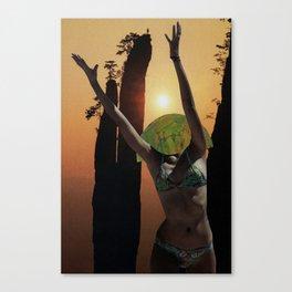 welcome shy sun Canvas Print