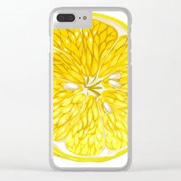 Lemon Slices Graphic Design Clear iPhone Case