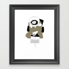 MORNING COFFEE IN THE OFFICE Framed Art Print
