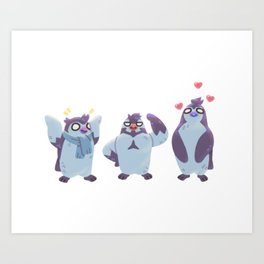 Partners in Crime... And Other Penguin Things Art Print