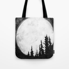 Full Moon & Trees Tote Bag