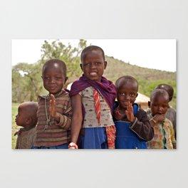 Maasai Children Canvas Print