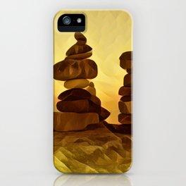 The Three Inukshuk iPhone Case