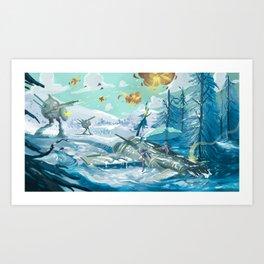 Space crash Art Print