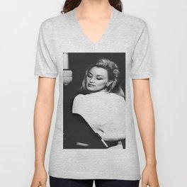 Saint Dolly Parton Portrait Unisex V-Neck