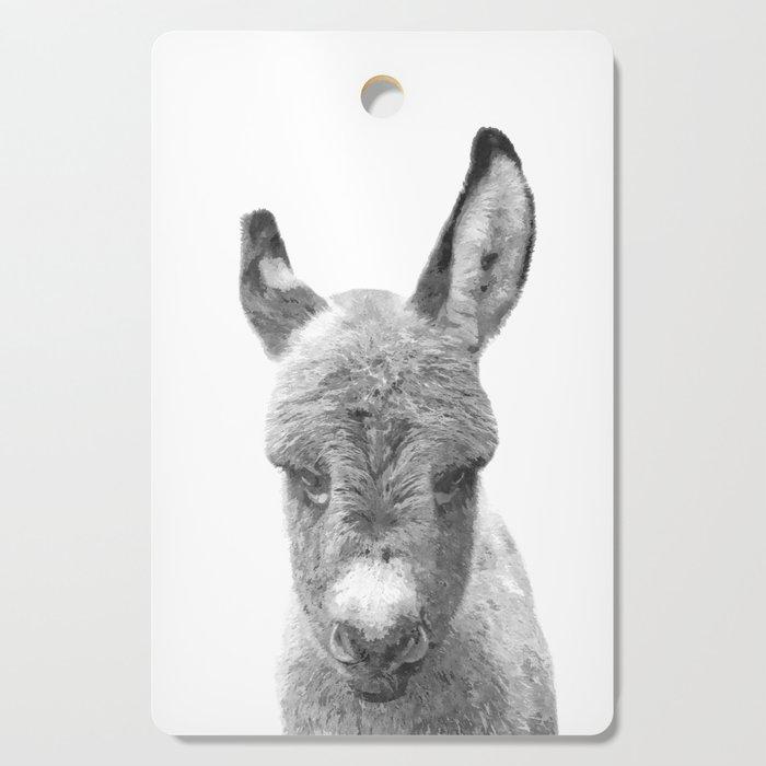Black and White Baby Donkey Cutting Board