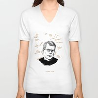 stephen king V-neck T-shirts featuring Stephen King by darkscrybe