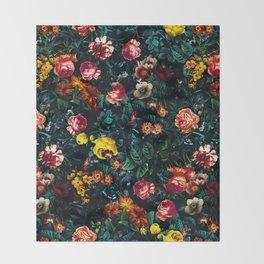 Night Garden XXX Throw Blanket