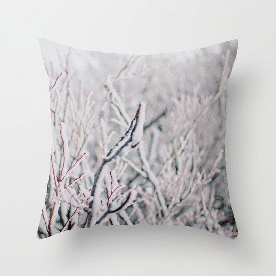 Winter Snow  Throw Pillow