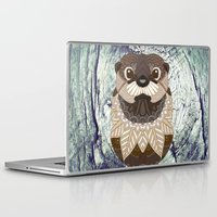 otter Laptop & iPad Skins featuring Ornate Otter by ArtLovePassion