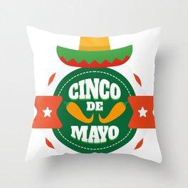 Cinco De Mayo Party Cinco De Mayo Costume Throw Pillow