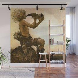"""The Little Shepherd"" John Bauer Watercolor Wall Mural"