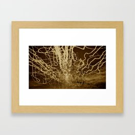 City (Light)s (Graffiti) 7 Framed Art Print