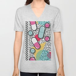 Pills pattern 018 Unisex V-Neck