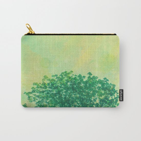 Green Lone Tree, Summer Sunlight Carry-All Pouch