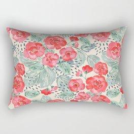 Red flowers 2 Rectangular Pillow