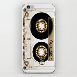 Transparant mix tape Retro Cassette iPhone Skin
