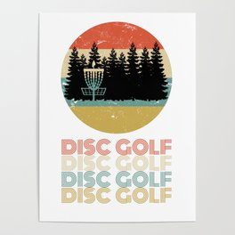 Disc Golf Discgolf Vintage Design Poster