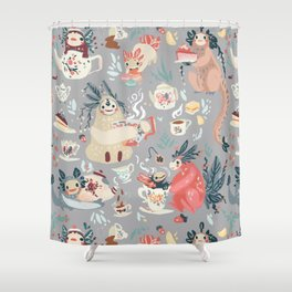Tea Spirit pattern Shower Curtain