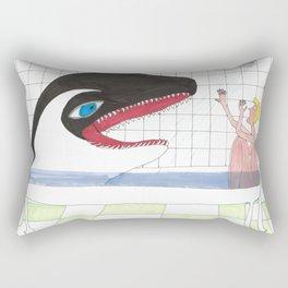 Orca In My Shower Rectangular Pillow