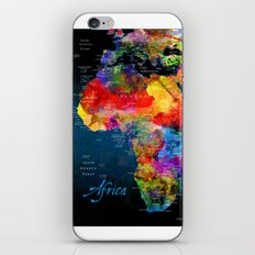 Africa Map Black iPhone Skin