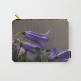 Purple Campanula Flowers Carry-All Pouch