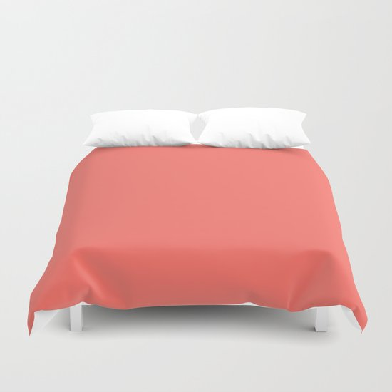 Living Coral Pantone Solid Color Block by beautifulhomes