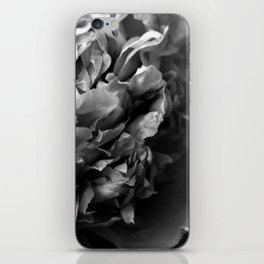 Black and White Summer Peony iPhone Skin