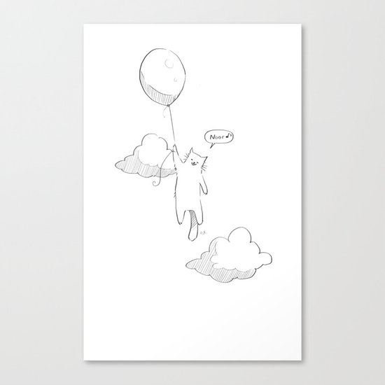 Balloon Cat Canvas Print