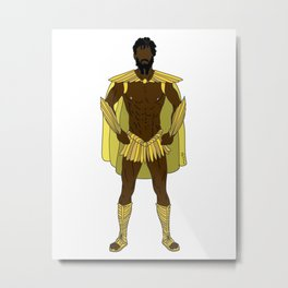 Gladiator Warrior Strength Metal Print
