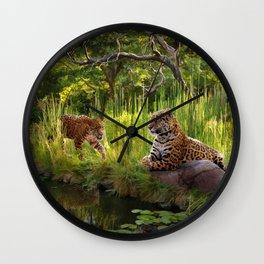 A Secret Pond Wall Clock