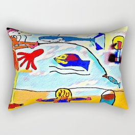 The attacked fisherman Rectangular Pillow