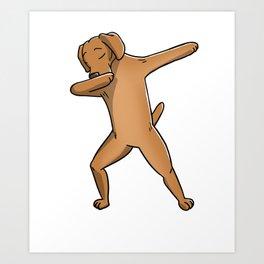 Funny Dabbing Vizsla Dog Dab Dance Art Print