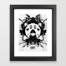 Kirby Ink Blot Geek Psychological Disorders Framed Art Print