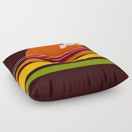 rosso di sera bel tempo si spera Floor Pillow