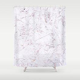White Chipboard Shower Curtain