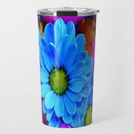 Vibrant Flower Bouquet Travel Mug