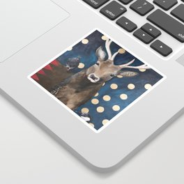 Stag with Tubbs and Goose Sticker