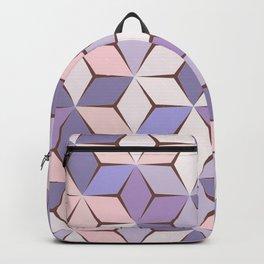 Pink & Purple Geometery Backpack