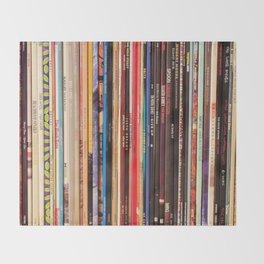 Indie Rock Vinyl Records Throw Blanket