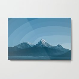 Pale Blue Montains Metal Print
