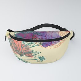 Botanical 1 - Exotic Floral Layered Abstract Art Fanny Pack
