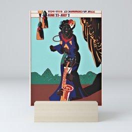 Vintage 1978 Milton Glaser Newport Jazz Festival Advertisment Poster Mini Art Print